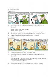 English Worksheets: Cartoon Analysis