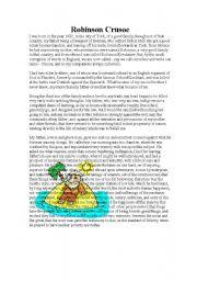English Worksheets: robison crusoe