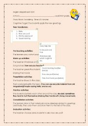 English Worksheets: First Lesson