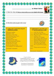 English Worksheets: earth song