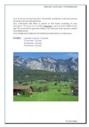 English Worksheet: Describing a picture - the countryside