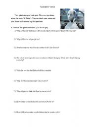English Worksheet: I, Robot quiz
