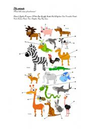English Worksheets: The animals (very Complete)