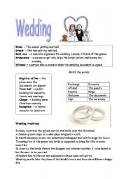 wedding and english skills level Speaking skills lesson plans: the wedding party: worksheet/teacher's notes -   author: lindsay clandfield level: intermediate type: general lesson plan print.
