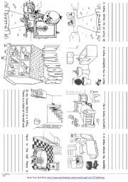 English Worksheet: In my house there is ... (mini book)