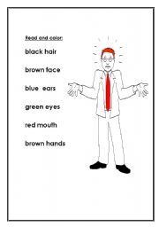 English worksheet: colour