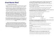 English Worksheets: The Great Barrier Reef