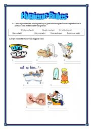 worksheet: Hygiene rules