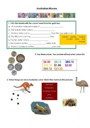math worksheet : english teaching worksheets australian money : Kindergarten Worksheets Australia