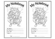 English Worksheet: Notebook cover page