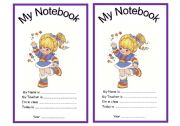 English Worksheet: My Notebook Cover page