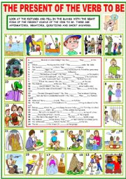 English Worksheet: THE PRESENT OF THE VERB TO BE
