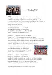 English Worksheets: Connected Speech: Pussycat Dolls - Watcha Think About That