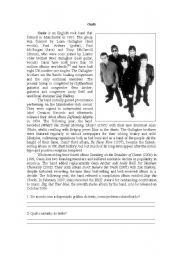 English Worksheets: Oasis