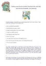 English Worksheet: FCE reading comprehension exercises