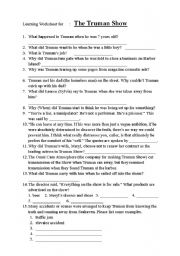 The Truman Show - Listening Worksheet