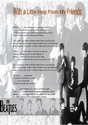 English Worksheet: Modal Auxiliaries: The Beatles - I get by with a little help from my friends