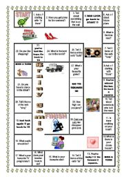 English Worksheet: Board game for revision of forms of irregular verbs, questions etc.