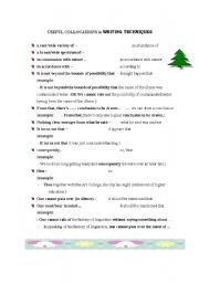 English Worksheets:  COLOCATIONS  useful for  -  writing techniques