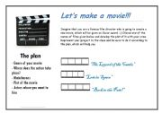 English Worksheets: Let�s make a movie!
