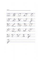 English Worksheets: hand writing