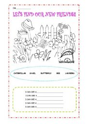 English Worksheets: new friends- BUGS