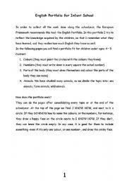 English Worksheets: English_Portfolio