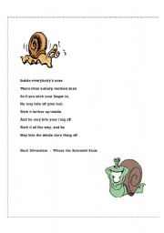 English Worksheets: Sharp Toothed Snail (or) Don�t Pick Your Nose