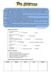 English Worksheets: Family Reading Comprehension Texts