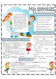 English Worksheets: MY EXERCISES 5