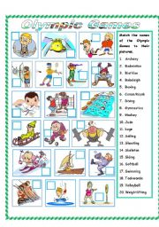 English Worksheet: Olympic Games