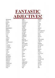 Fantastically Useful Adjectives!