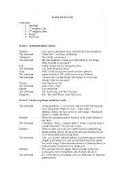 English Worksheet: Skit Beauty and the Beast