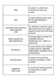 English Worksheet: Banking terms NOUNS