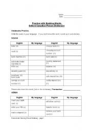English Worksheet: Banking terms and  verbs package