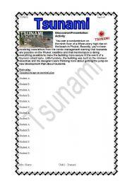 English Worksheet: Tsunami Cont�d