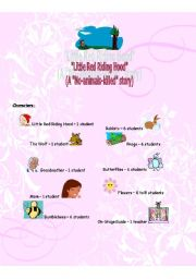 English Worksheet: Little Red Riding Hood script for children