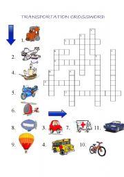 transportation crossword esl worksheet by r ka. Black Bedroom Furniture Sets. Home Design Ideas