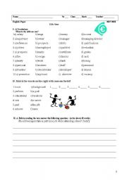 English Worksheet: Written Test 11thYear  World of Work (reading +grammar+writing)