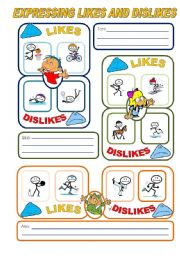 English Worksheets: EXPRESSING LIKES AND DISLIKES