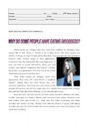 Why do some people have eating disorders?