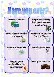 English Worksheets: Have you ever done this? (1/2)