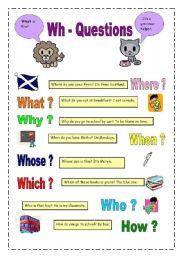 Question words (22.02.09) - ESL worksheet by manuelanunes3