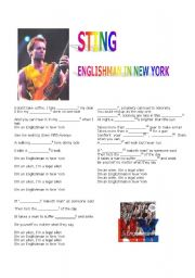 English Worksheet: Sting -