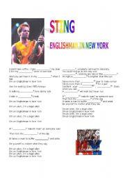 English Worksheets: Sting -