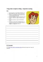English Worksheets: Use of Comic to improve writing