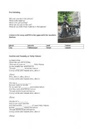 English Worksheets: Molly Malone worksheet