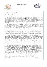Pen Pal Letter Example.Pen Pals Worksheets