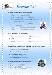 English Worksheets: A Mixture!