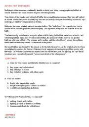 English Worksheets: Say no to bullies